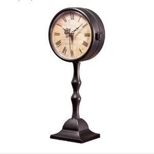 Table Clock with Roman Numerals. 16 Inches Tall.